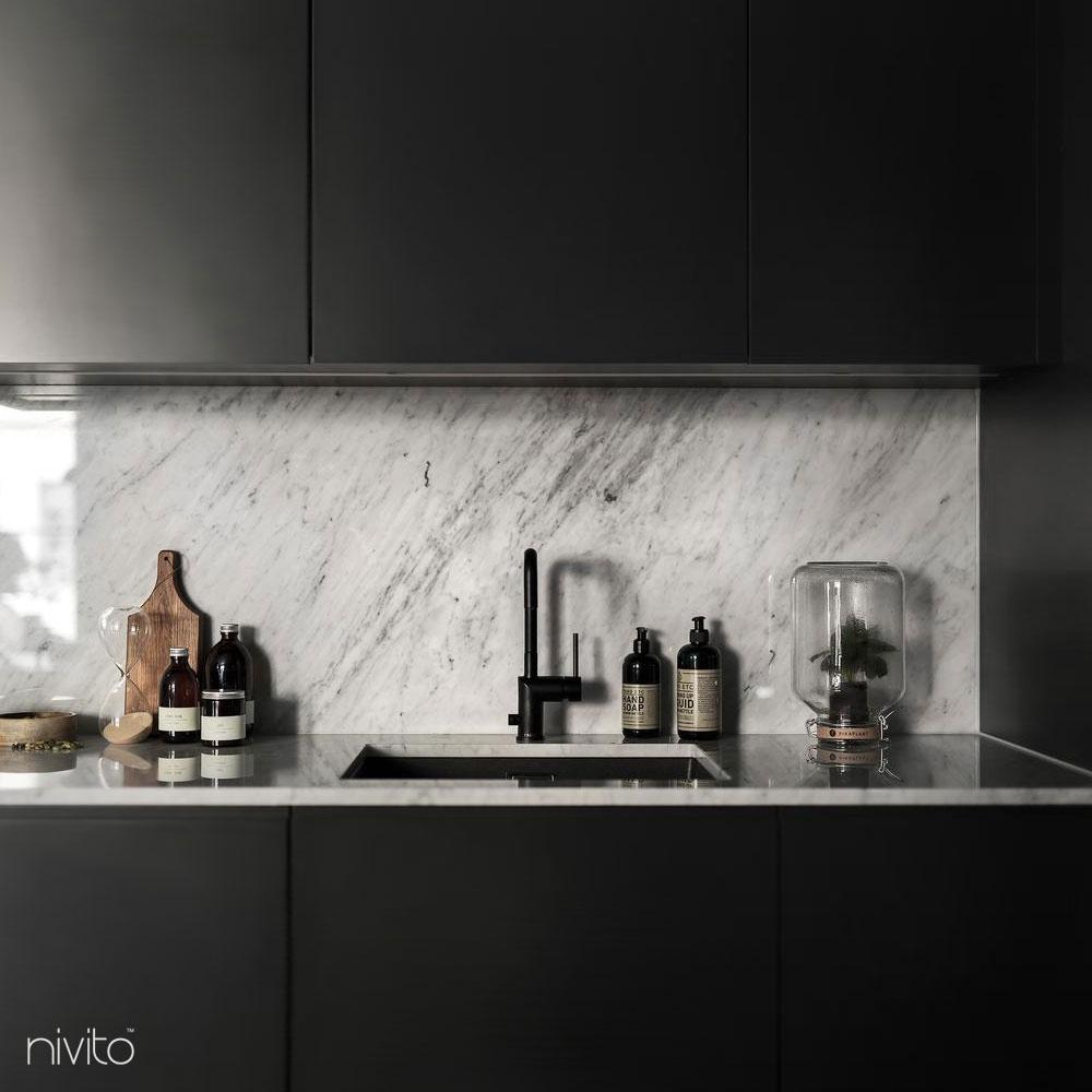 Black kitchen tapware