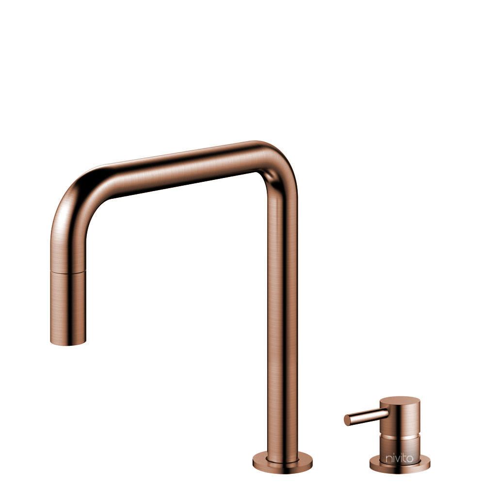 Copper Kitchen Tap Pullout hose / Seperated Body/Pipe - Nivito RH-350-VI