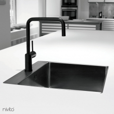 Black Kitchen Mixer Tap - Nivito 1-RH-320