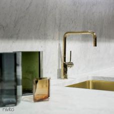 Gold brass mixer tap single lever mono tap