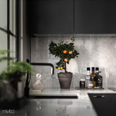 Black Kitchen Mixer Tap - Nivito 10-RH-320