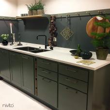 Black Kitchen Mixer Tap - Nivito 14-RH-320