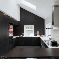 Black Kitchen Mixer Tap - Nivito 20-RH-320
