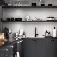 Black Kitchen Mixer Tap - Nivito 21-RH-320
