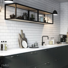 Black Kitchen Mixer Tap - Nivito 22-RH-320