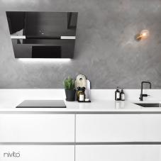 Black Kitchen Mixer Tap - Nivito 3-RH-320
