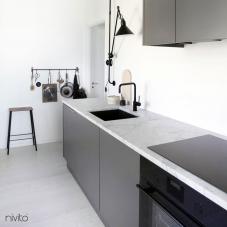 Black Kitchen Mixer Tap - Nivito 5-RH-320