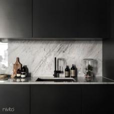 Black Kitchen Mixer Tap - Nivito 8-RH-320