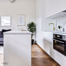 Gold brass kitchen mixer tap single lever mono tap