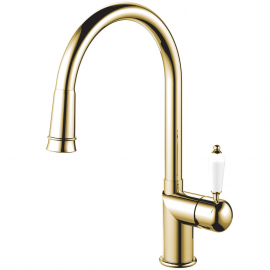 Brass/Gold Kitchen Tap Pullout hose - Nivito CL-260