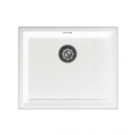 White Kitchen Sink - Nivito CU-500-GR-WH