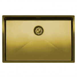 Brass/Gold Kitchen Basin - Nivito CU-700-BB