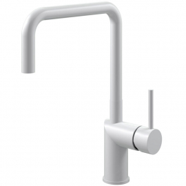 White Kitchen Mixer Tap - Nivito RH-330